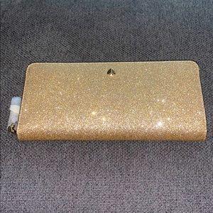 Gorgeous Golden Glitter Kate Spade ♠️ Wallet